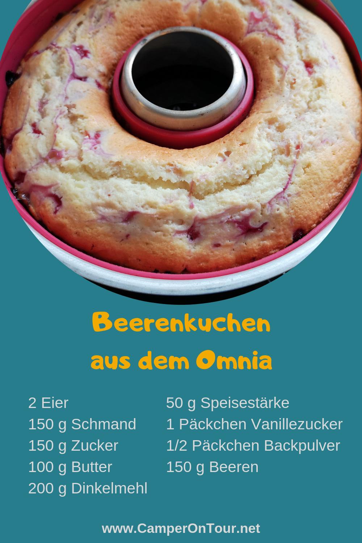Beeren - Schmand - Kuchen aus dem Omnia #brombeerenrezepte