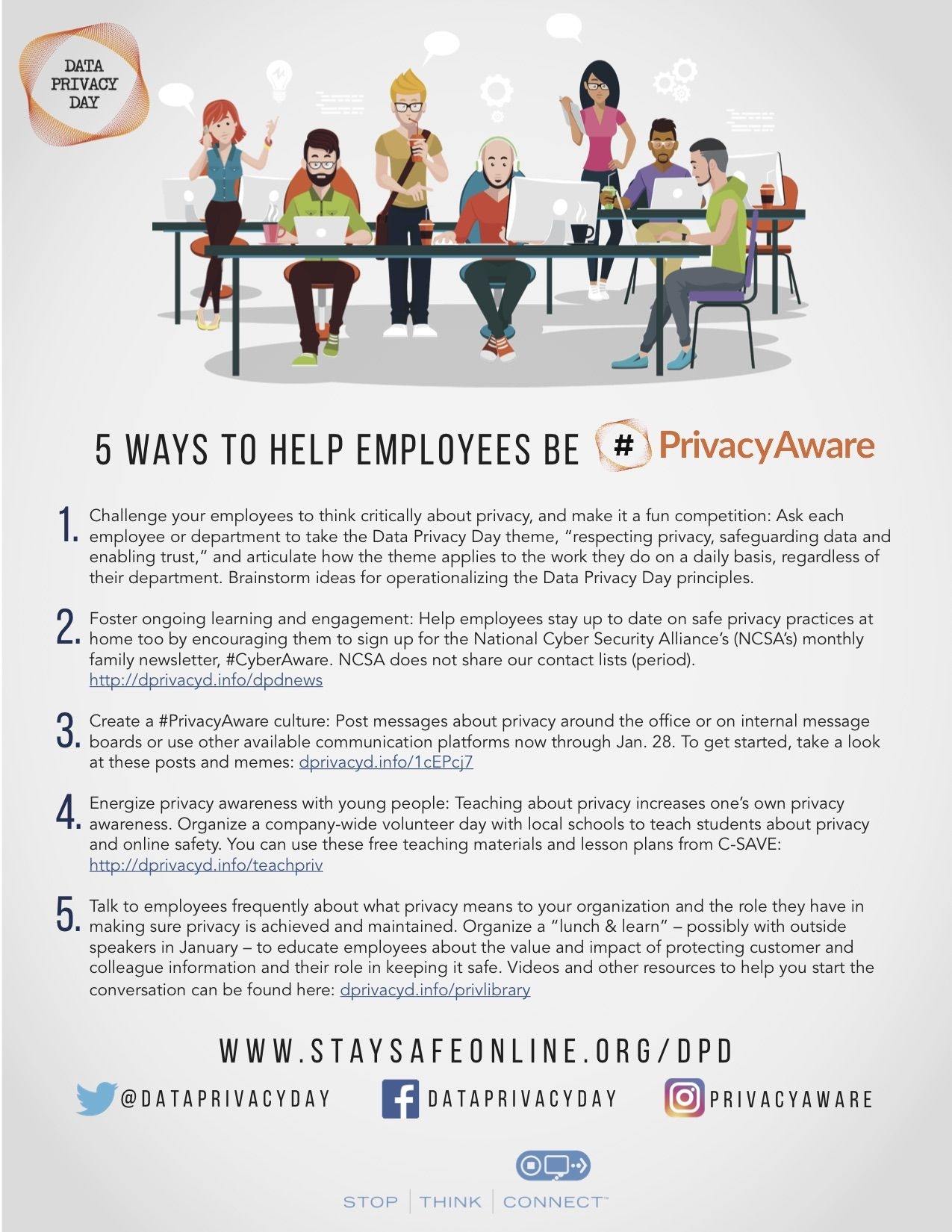 5 Ways To Help Employees Be Privacyaware Staying Safe Online 5 Ways Employee
