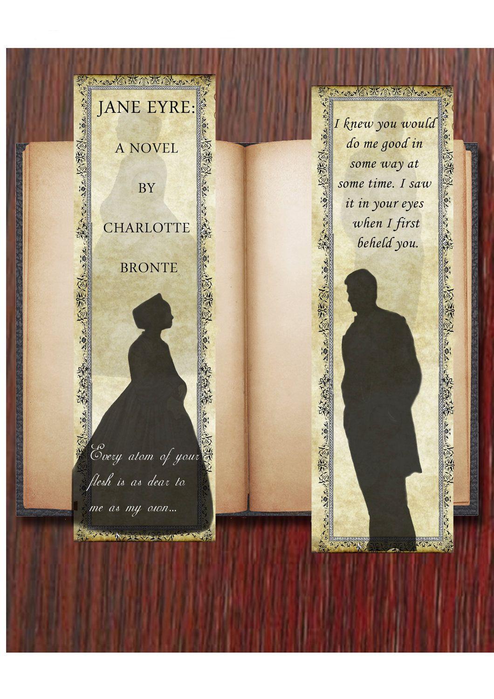 Digital Download  Jane Eyre Bookmarks And Envelope