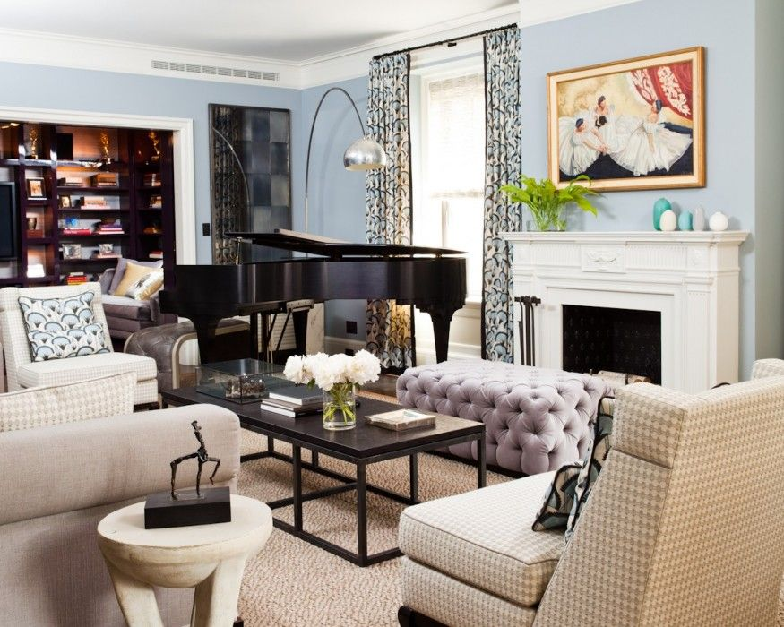 19 piano rooms that bring music to your home grand for Grand piano in living room