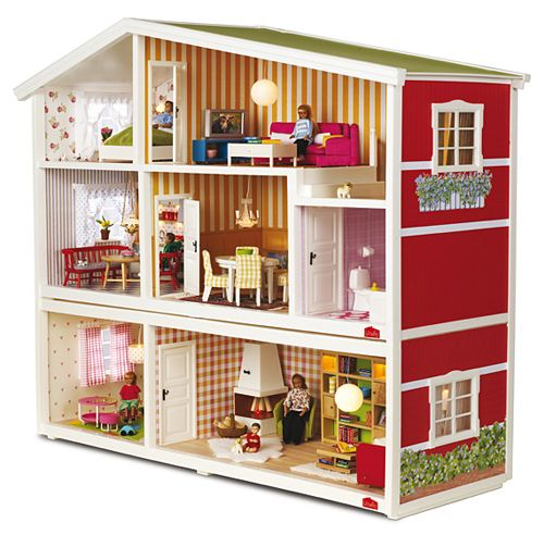 Casitas de mu ecas lundby decoraci n habitaci n ni os y for Casitas madera decoracion