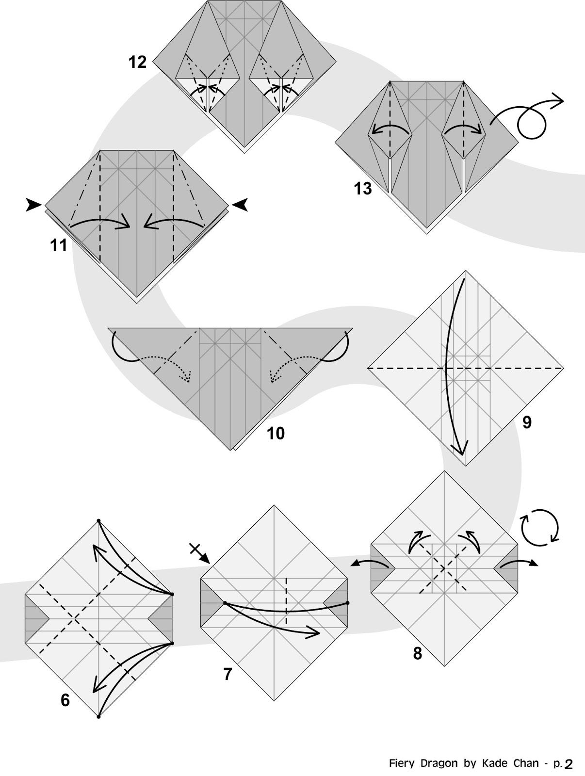 1000 images about origami on pinterest dragon origami cat and  : origami darkness dragon diagram - findchart.co