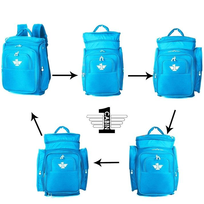 CABIN 1 - Expandable Carry On Hand Luggage Backpack Bag 85740fc71299b