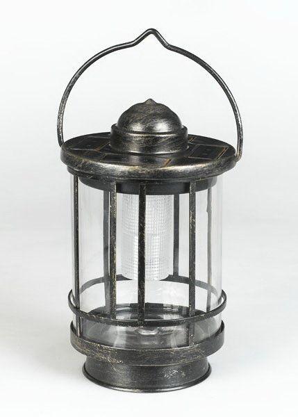 Duracell 5 Lumen Metal Glass Tabletop Lantern Solar Lanterns Solar Powered Lanterns Metal Lanterns
