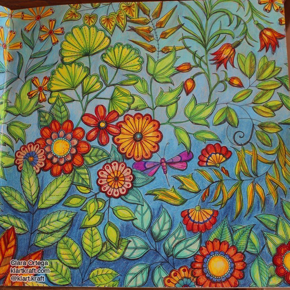 Flores Acuáticas En El Jardín Secreto De Johanna Basford Secret Garden Colouring Johanna Basford Secret Garden Instagram