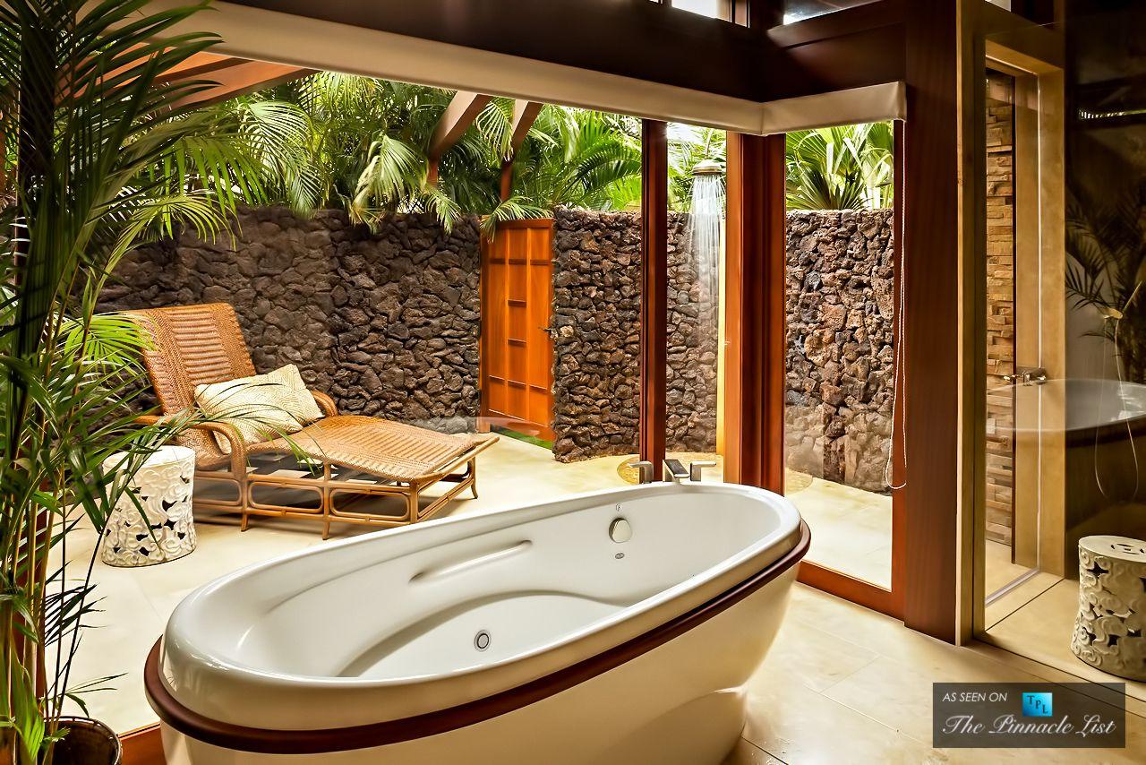 Cher's Former Hawaiian Residence  Kailuakona Hawaii  Bathroom Amazing Luxury Outdoor Bathrooms Inspiration Design
