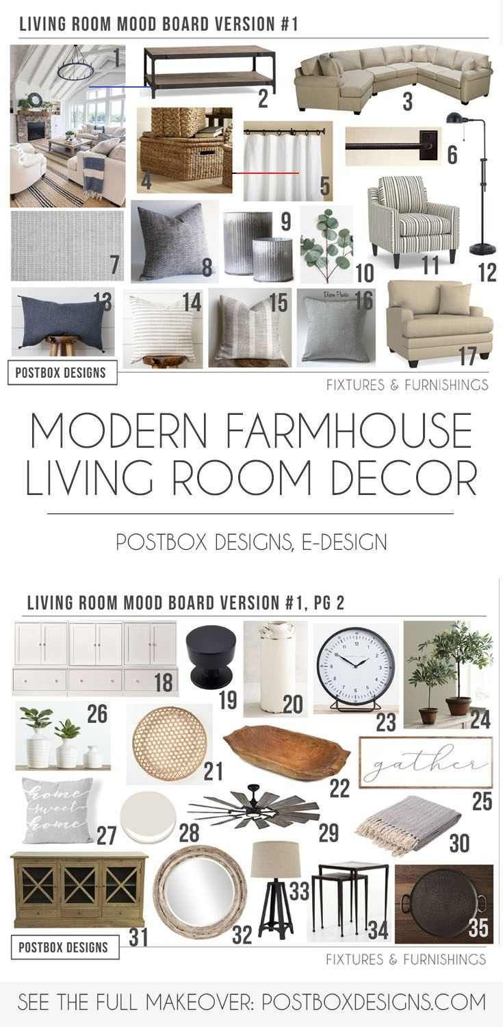 The Cheat Sheet 5 Modern Farmhouse Living Room MustHaves