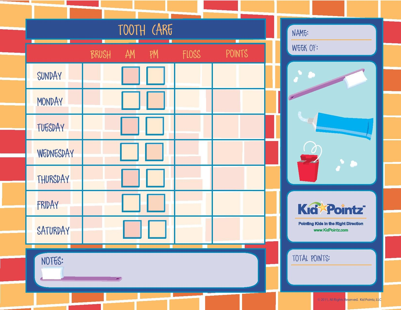 incentive charts for kids kids teeth cleaning chart for