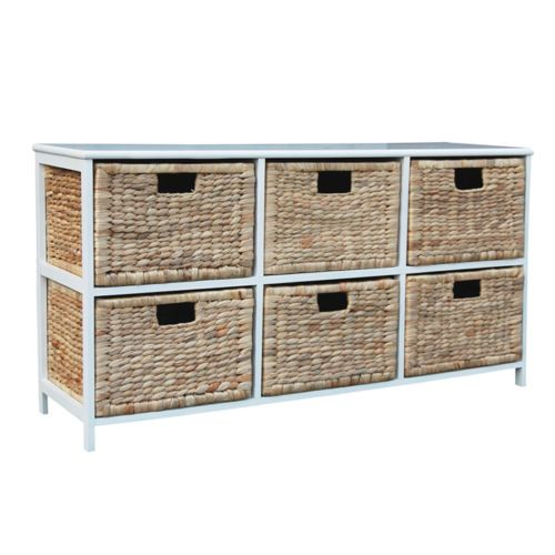 Loxley 6 Rattan Wicker Wide Drawer Wooden Storage Chest Choice Of