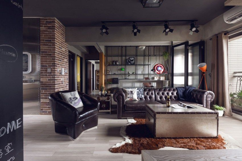 Living Room Of The Superhero Bachelor Pad Entitled Hongu0027s House By HAO  Design.