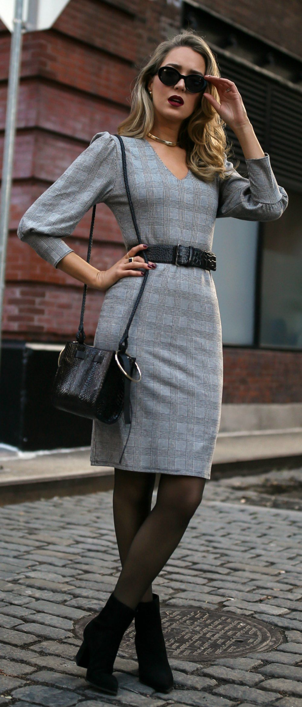 My favorite black boots styled two ways long camel coat grey