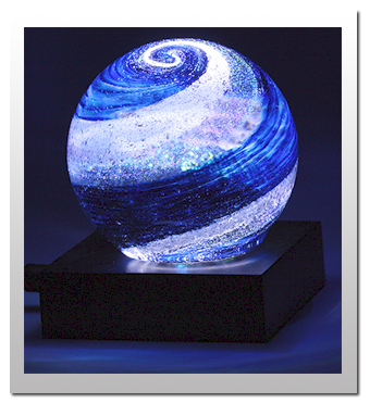 Artful Ashes creation. Glass works of art made with cremation ashes. Only $185 each. $145 each for more than one :)