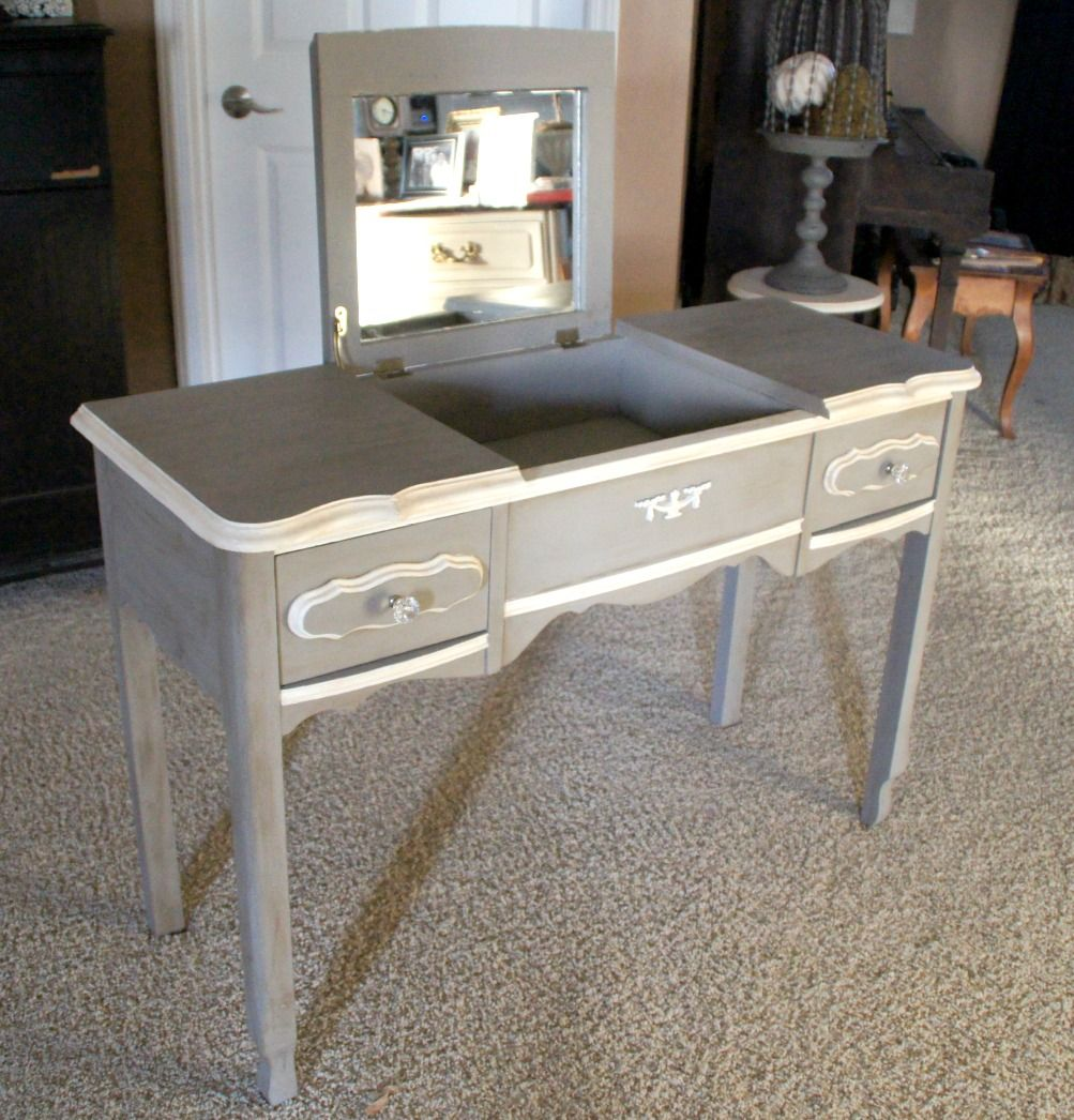 Ascp french linen u old white painted vanity i like the colors of
