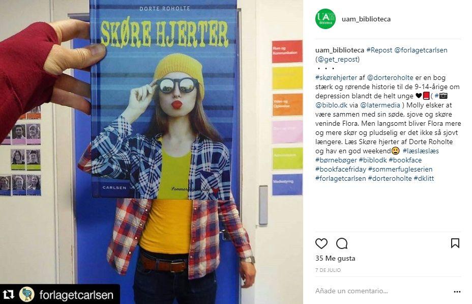 Pin de UAM_Biblioteca en BookFaceFriday Instagram