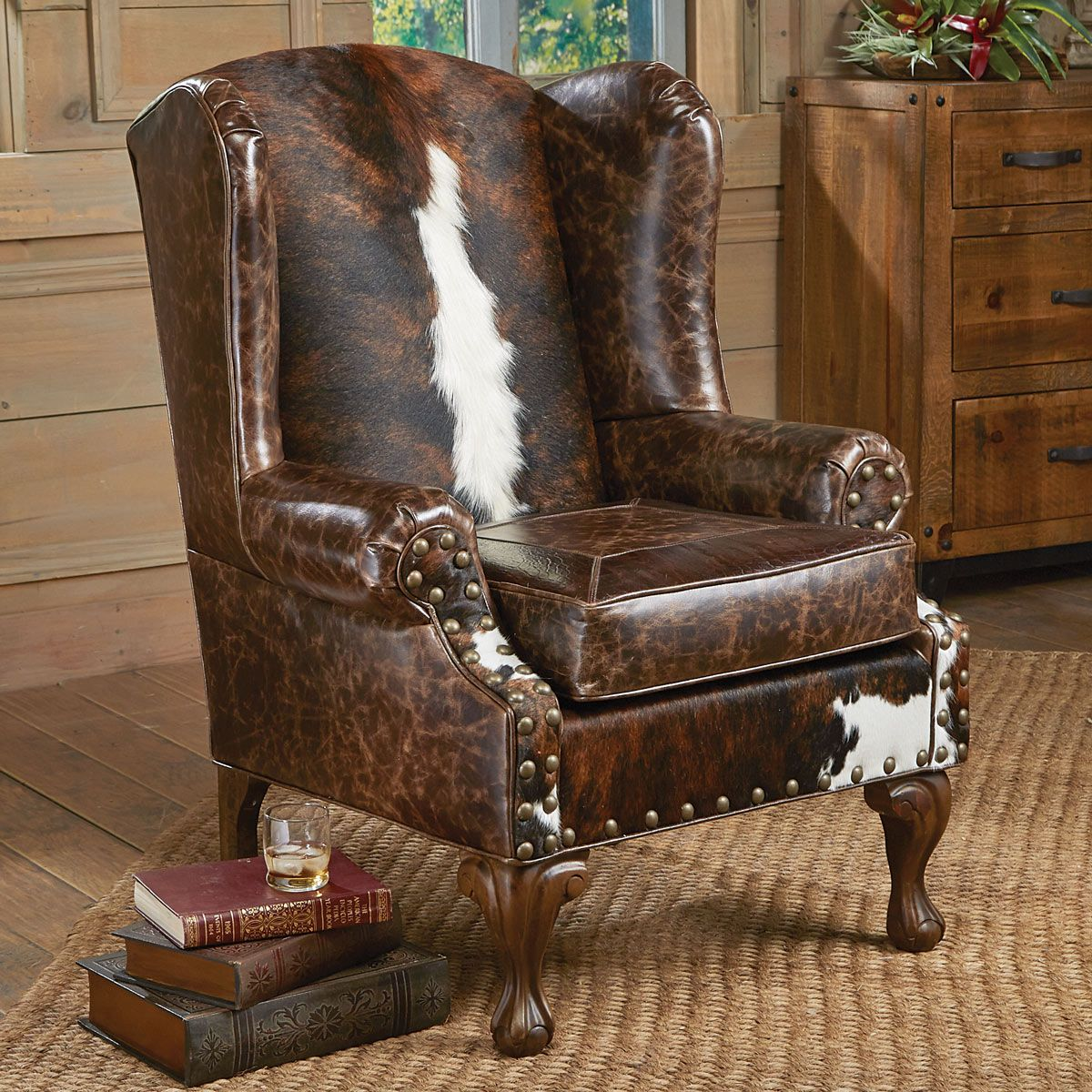 Santa Fe Wing Back Chair Western Decor Western
