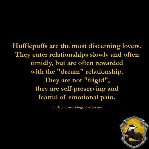 Hufflepuff dating slytherin