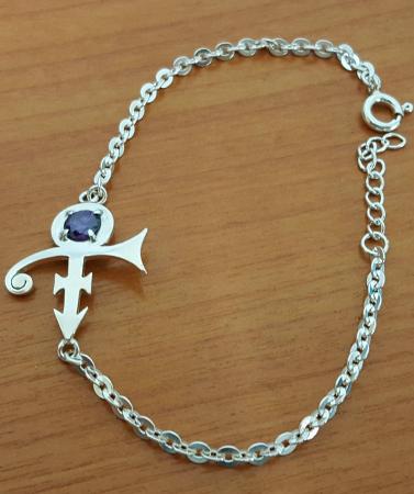 Prince Rogers Nelson Prince Symbol Bracelet Purple Stone