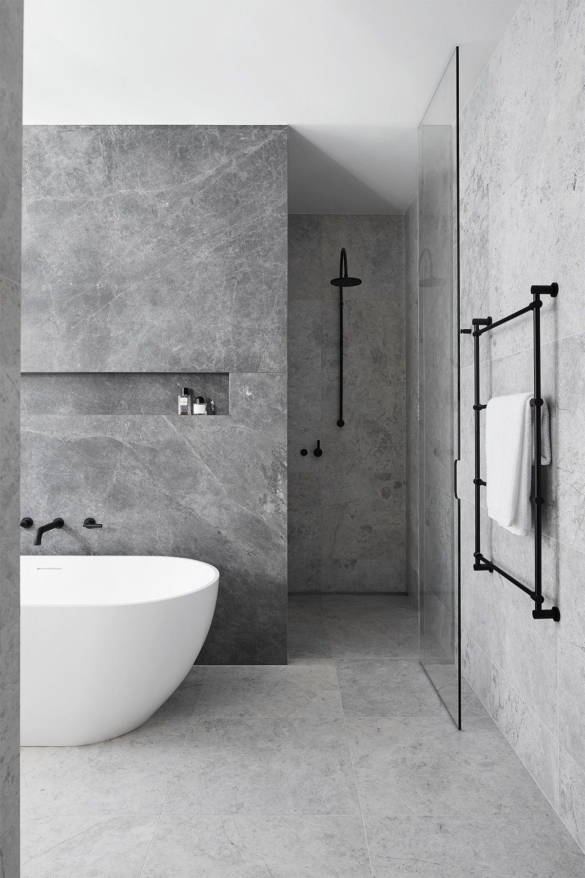 astounding calming modern minimalist bathroom white | TCL Residence - Mim Design | Grey bathrooms designs ...