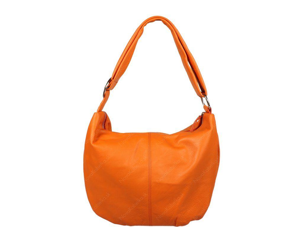 Talianská kožená kabelka Gondola Arancione