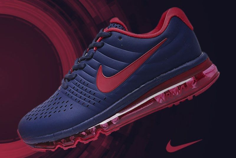 Nike Air Max 2017 Dark Blue Red Leather