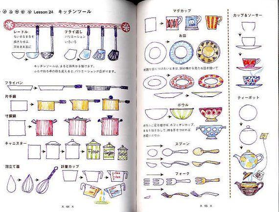 Vergriffen / Illustrationen mit Ball Point Stifte - japanische Buch