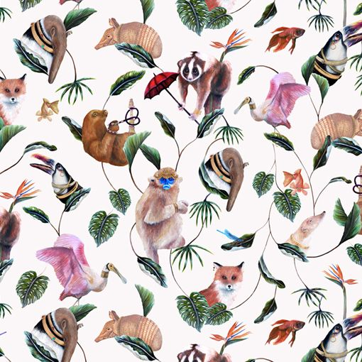 Product Code: Badgers Of Bohemia - Bohemian Palms Cream 0007 Colour: Cream Roll size: 10m L x 67cm W  Pattern Repeat: 41.7cm Straight match  Please allow 3-4 weeks for delivery  The wallpaper requires Halls Beeline Vinyl Wallcovering Adhesive for hanging