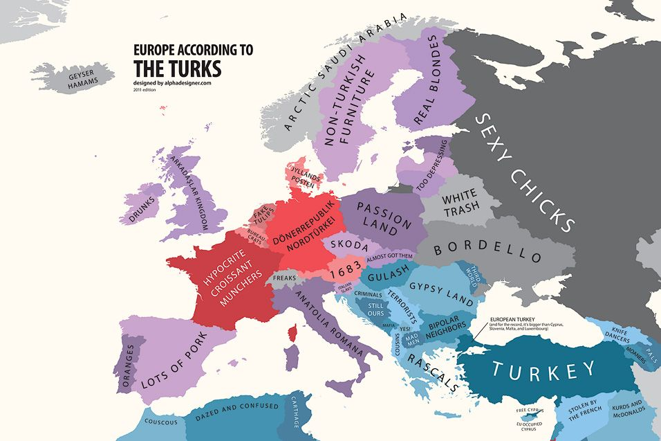 Europe According To Turkey Print Carte Europe Geographie Cartes