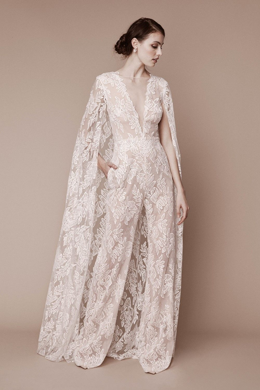 6568cb0f70a4 2019 Bridal Trends - Trousers Tadashi Shoji Fall 2019 Bridal