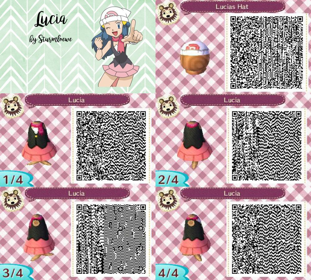Animal Crossing New Leaf Qr Code Pokemon Diamond Pearl Lucias Dress And Hat Cap Lucia Animal Crossing Memes Animal Crossing Qr Animal Crossing Qr Codes Clothes