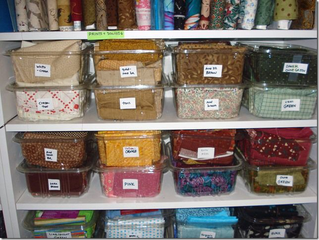4 Easy (Cheap) Ways to Organize Fabric (part 3)   mulberrypatchquilts