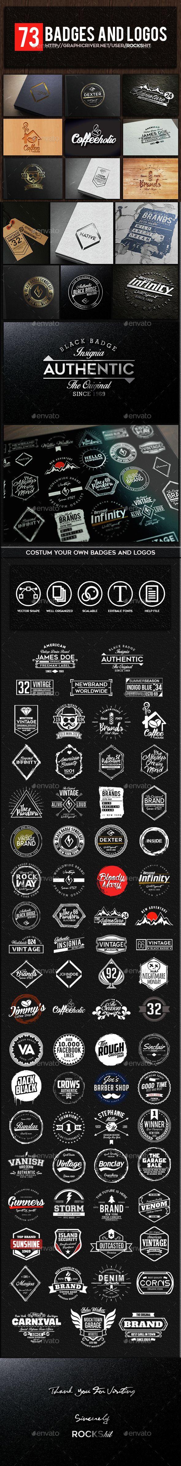 73 Badges and Logos   Creatividad