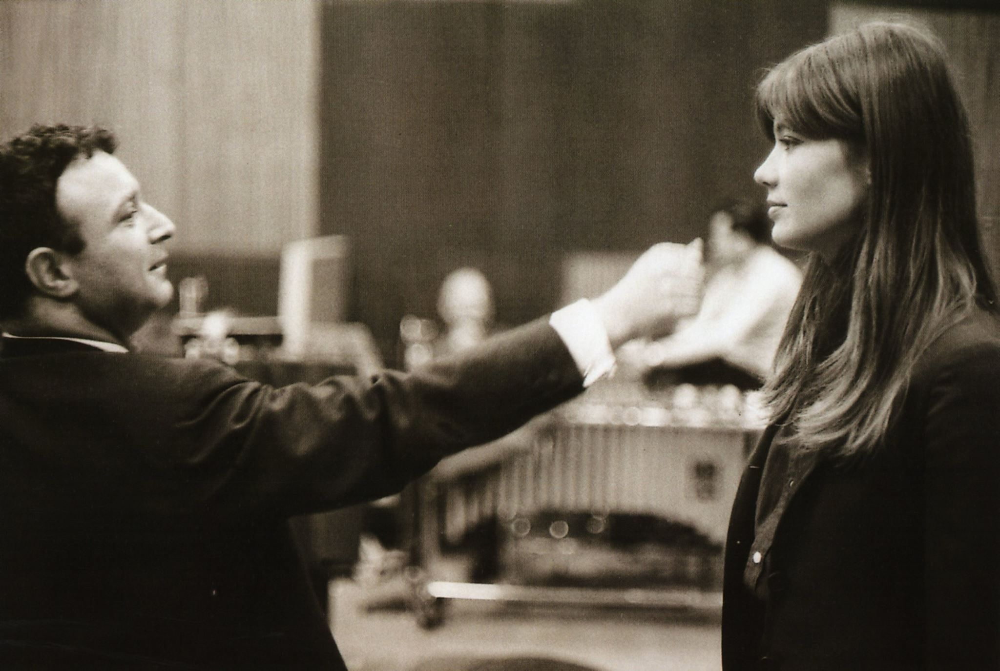 Françoise Hardy and Jacques Wolfson (Vogue Records). Photo by Jean-Marie Perier, March 1964