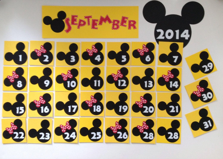 Kindergarten Preschool Disney Calendar