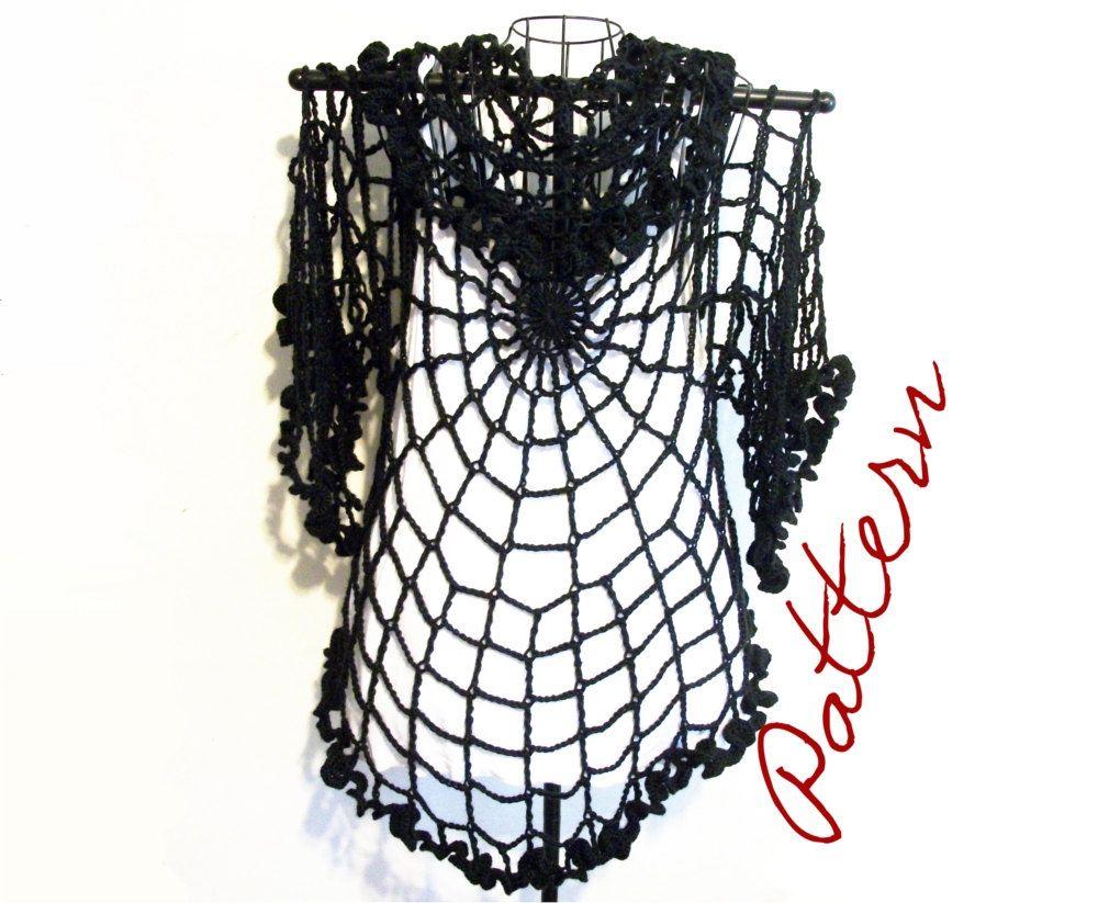 Pdf crochet pattern spiderweb lace jacket cardigan shrug gothic pdf crochet pattern spiderweb lace jacket cardigan shrug gothic all sizes diy adult halloween costume bankloansurffo Images