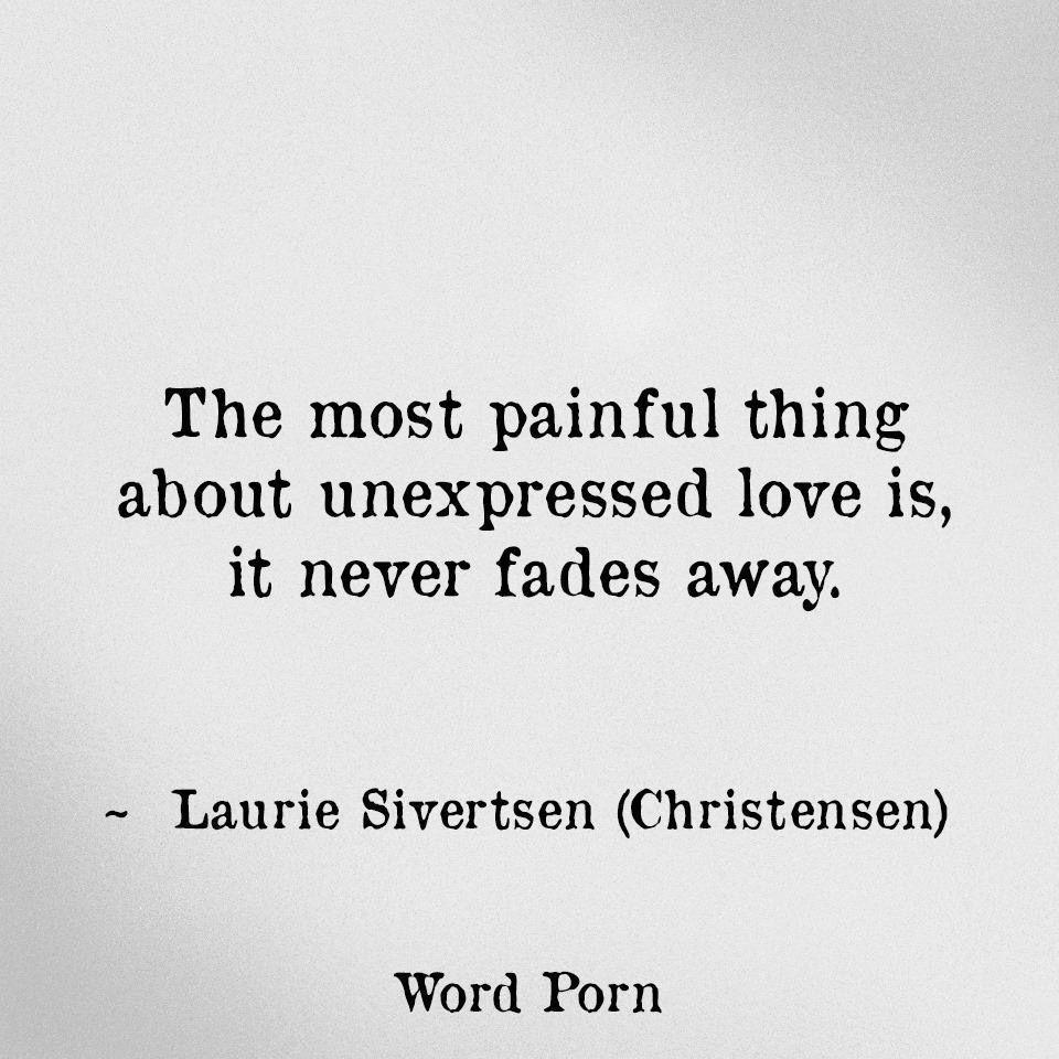 Unexpressed love