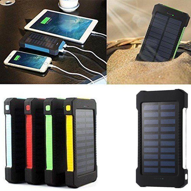 outlet store 4c4ea 6c6b1 300000mAh Dual USB Port Waterproof Solar Power Bank External Battery ...
