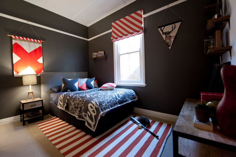 Via desire to inspire Dark and moody teenage boys bedroom with ...