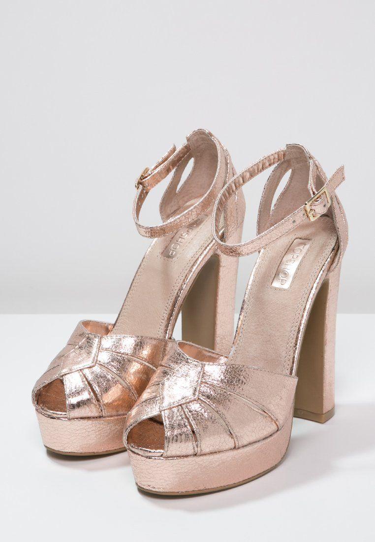 51f19e08135 Chaussures Topshop SIENNA - Escarpins à bout ouvert - rose-gold color.217   70