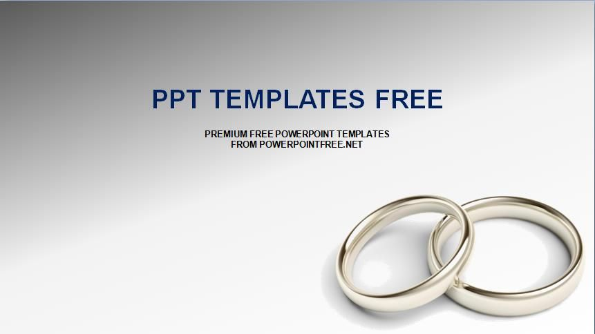 Wedding Rings Powerpoint Template With Images Powerpoint Templates