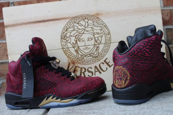 size 40 41d5f 1dcc8 Air Jordan 5 3lab5 Versace Custom