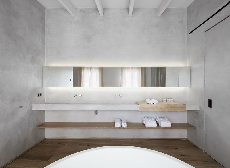 Badezimmer Design Ideen offenen Regal unterhalb der Arbeitsplatte - badezimmer design ideen