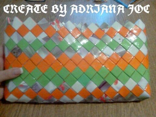 Geanta Handmade Realizata Din Hartie Bifold Wallet