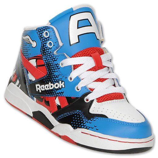104b4f2592a4 Reebok Captain America Preschool High Top Shoes
