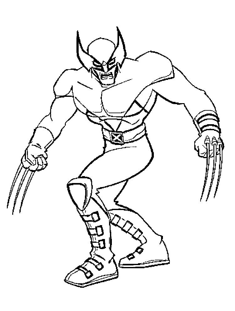 Wolverine X Men Coloring Pages Superhero Coloring Pages Cartoon Coloring Pages Avengers Coloring Pages