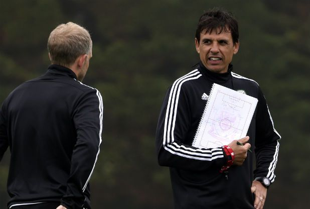 Wales boss Chris Coleman pokes fun at England following amusing teamsheet mishap