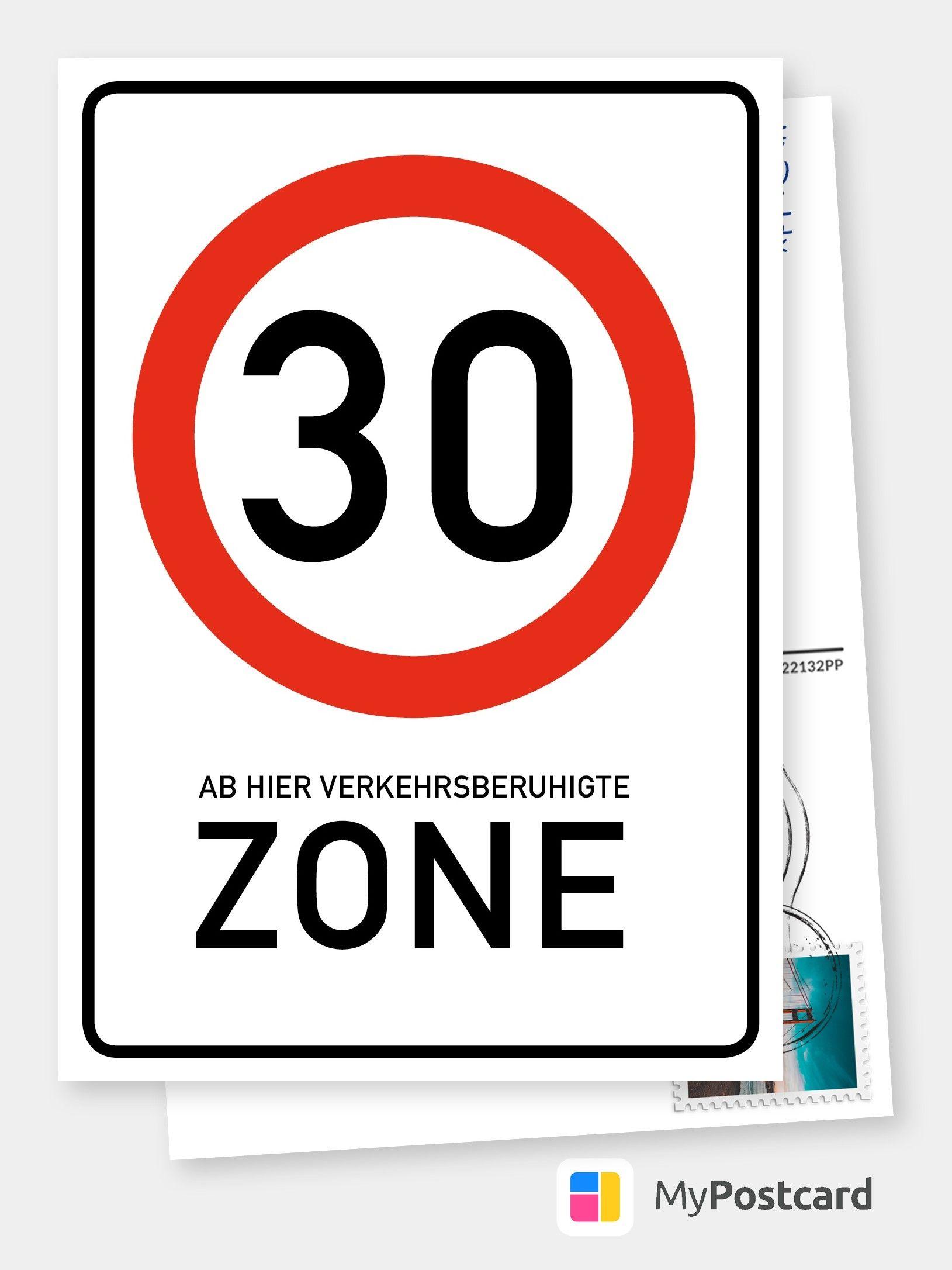 Zone 30 Geburtstagskarten Spruche Echte Postkarten Online Versenden Birthday Congratulations Birthday Cards Birthday Greetings