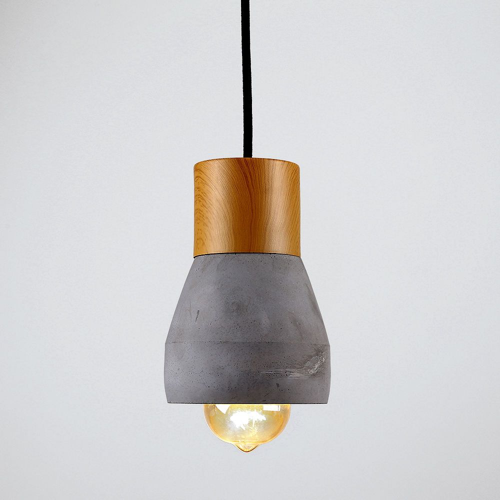 Details About Industrial Style Concrete & Wood Effect