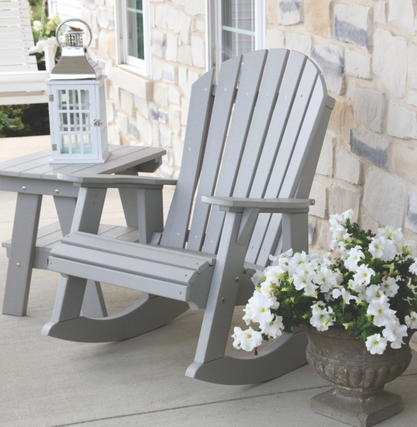 Wildridge Outdoor Heritage High Fan Back Rocking Chair Lead Time To Ship 6 To 8 Weeks Outdoor Chairs Porch Chairs Adirondack Chair