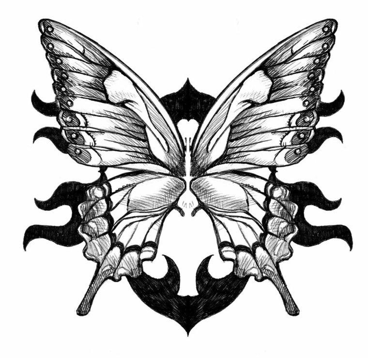 Disegni facili da fare matita bianco nero farfalla ali for Disegni facili da disegnare a matita