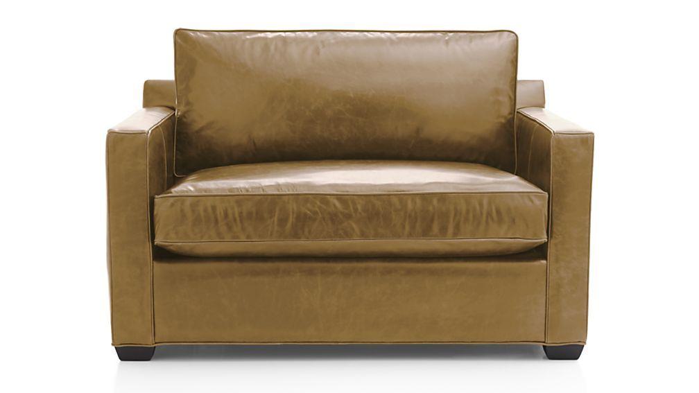Davis leather chair and a half sleeper sofa chair and a